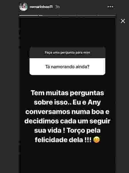 Romarinho anuncia que terminou com a DJ Any Borges - Reprodução/Instagram - Reprodução/Instagram
