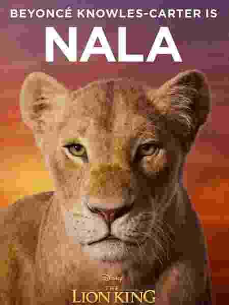 """Pôster de """"O Rei Leão"""" mostra visual de Nala (Beyoncé) - Reprodução/Facebook"""