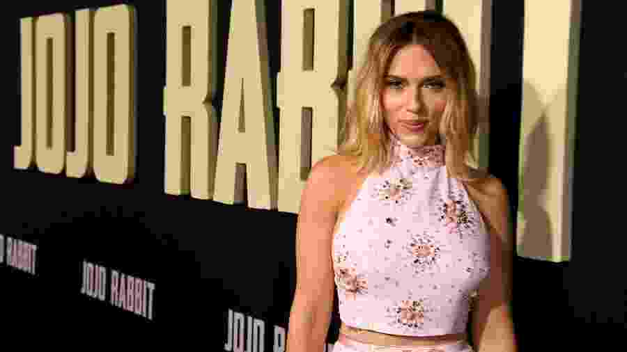 Scarlett Johansson participa do lançamento de seu novo filme, Jojo Rabbit - Kevin Winter/Getty Images