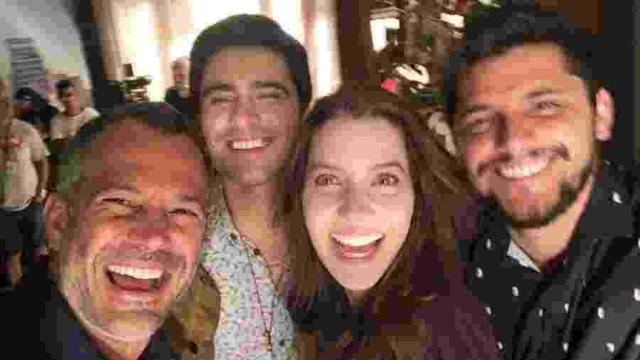 Malvino Salvador (Agno), Nathália Dill (Fabiana), Guilherme Leicam (Mão Santa) e Bruno Gissoni (William). - Reprodução/ Instagram