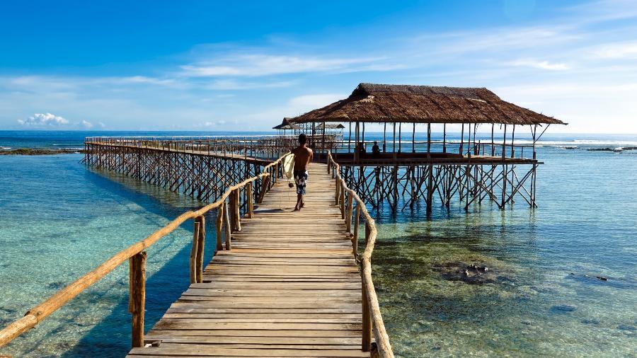 """Ilha de Siargao, nas Filipinas: local considerado no início do ano como """"tendência"""" para o turismo em 2020 - iStock"""
