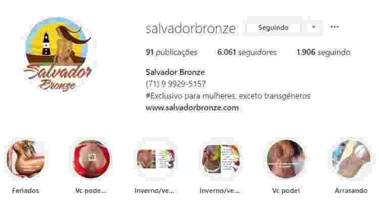 Clínica em Salvador avisa que não atende transgêneros por limitações técnicas - Reprodução/Instagram