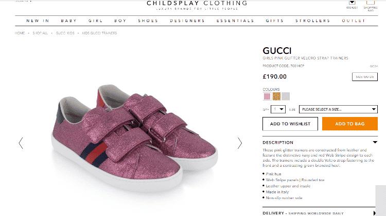 Tênis Gucci usada por Zoe - Reprodução