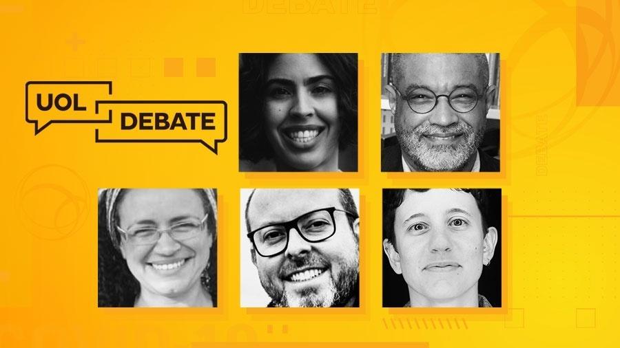 UOL Debate terá Bela Gil, Marcelo Paixão, Kelli Mafort e Kiko Afonso para discutir direito à alimentação - Arte/UOL