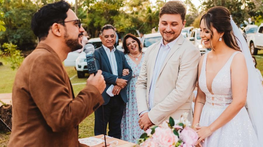 O casamento drive-in de Anna Gabriely e Vinicius Meneguzzi - Willian Matos/Divulgação