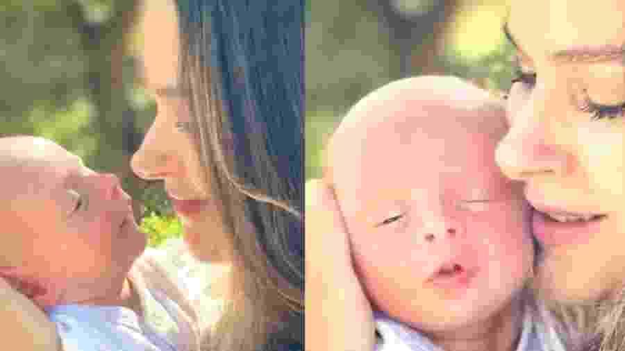 Fernanda Machado e o filho, Leo - Reprodução/Instagram