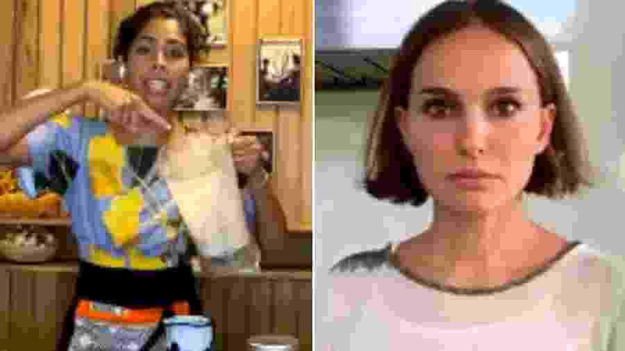 Bela Gil cozinhou com a atriz hollywoodiana Natalie Portman em uma live - Reprodução/Instagram