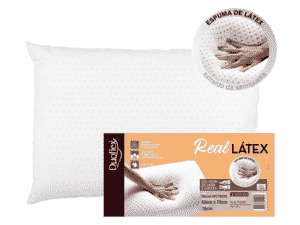 Travesseiro Real Látex Alto - Divulgação - Divulgação