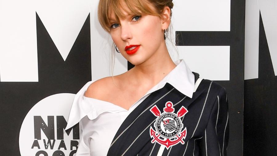 Perfil sobre estatísticas do Corinthians indica que vitórias do Corinthians têm relação com Grammys de Taylor Swift - montagem com foto de Dave J Hogan/Getty Images