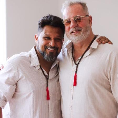 Luiz Fernando Guimarães e o marido Adriado Medeiros - Reprodução/ Instagram
