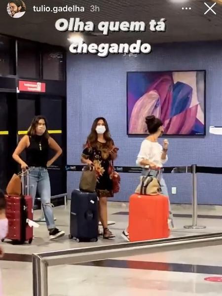 Fátima Bernardes e as filhas, Laura e Beatriz - Reprodução / Instagram