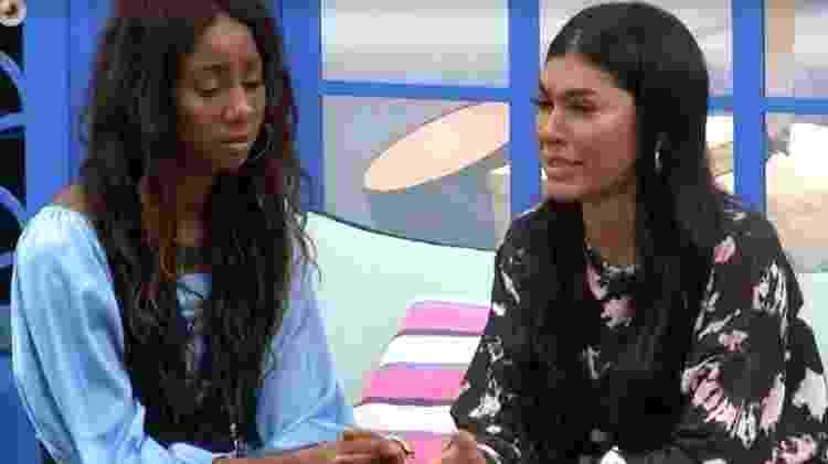 BBB21: Camilla conta para Pocah que votou nela - Reprodução/Globoplay - Reprodução/Globoplay