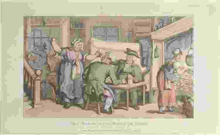 Gravura de Thomas Rowlandson, de 1817 - Heritage Images via Getty Images - Heritage Images via Getty Images