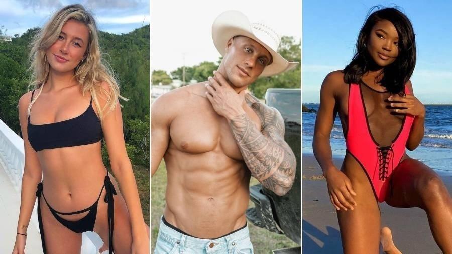"""Carly, Nathan e Melinda: conheça os participantes da segunda temporada de """"Brincando com Fogo"""" - Fotomontagem/Reprodução/Instagram"""