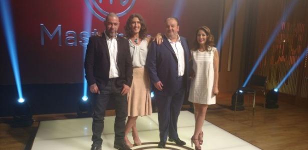 """Jurados do """"Masterchef Brasil"""" e Ana Paula Padrão durante lançamento da nova temporada do programa - Felipe Pinheiro/UOL"""