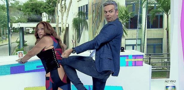 Susana Vieira divide a bancada do Vídeo Show com Otaviano Costa. O programa já pensa em testar novos apresentadores para o novo formato - Reprodução/TV Globo