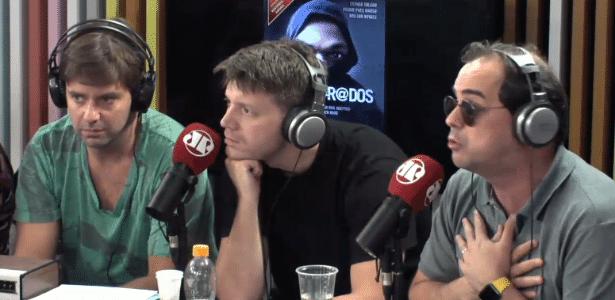 Humorista Carioca bate boca com autores de livro sobre black blocs  - Reprodução/RádioJovemPan