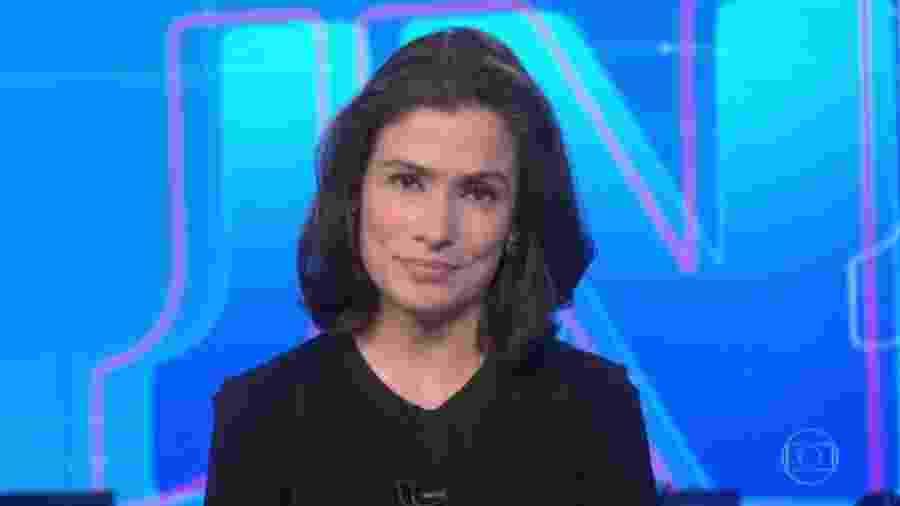 """Renata Vasconcellos anuncia que """"Jornal Nacional"""" começará 15 minutos mais cedo após condenação de Lula - Reprodução/TV Globo"""