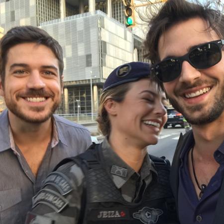 Marco Pigossi, Paolla Olvieira e Fiuk - Reprodução/Instagram