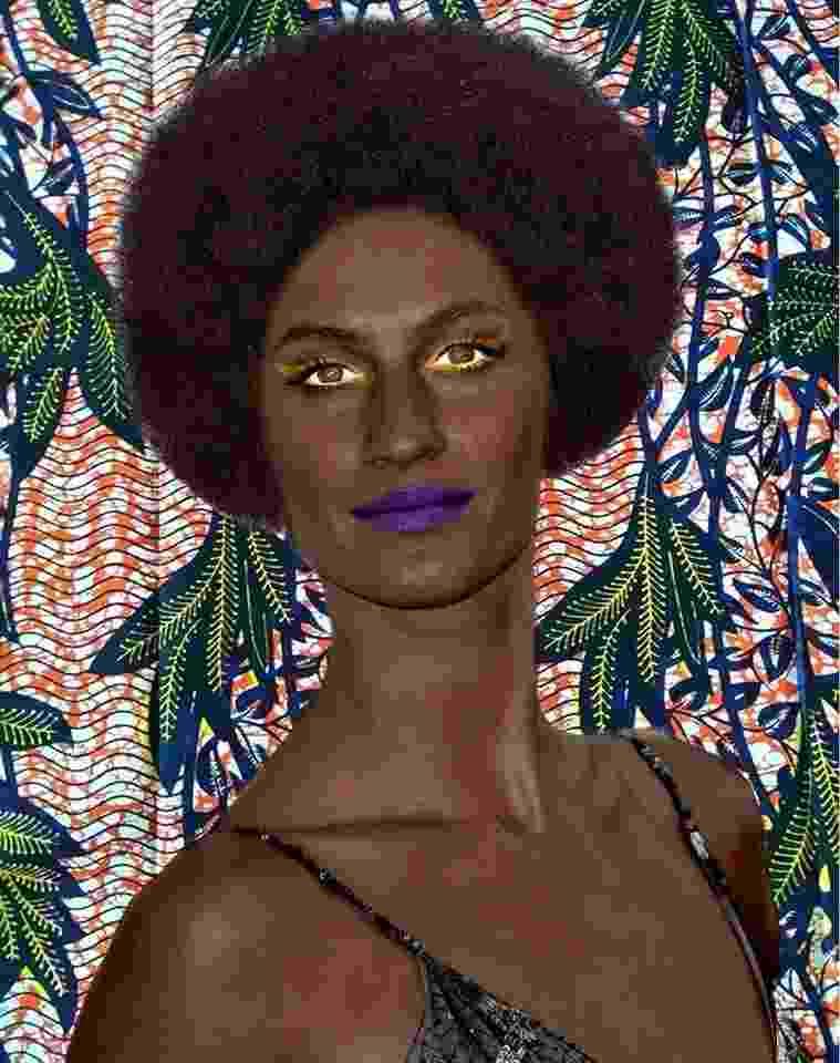 Gisele Bündchen retratada com a pele escurecida por Alexandre Loras - Divulgação