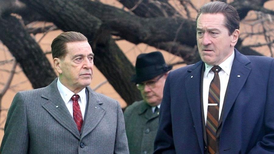 """Al Pacino e Robert De Niro no set de """"The Irishman"""" - Divulgação"""