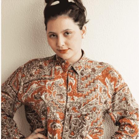 A designer com a sua camisa da sorte - Arquivo Pessoal