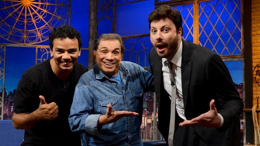 """Danilo Gentilli recebe Dedé Santana no programa """"The Noite"""", no SBT - Zé Paulo Cardeal/SBT"""