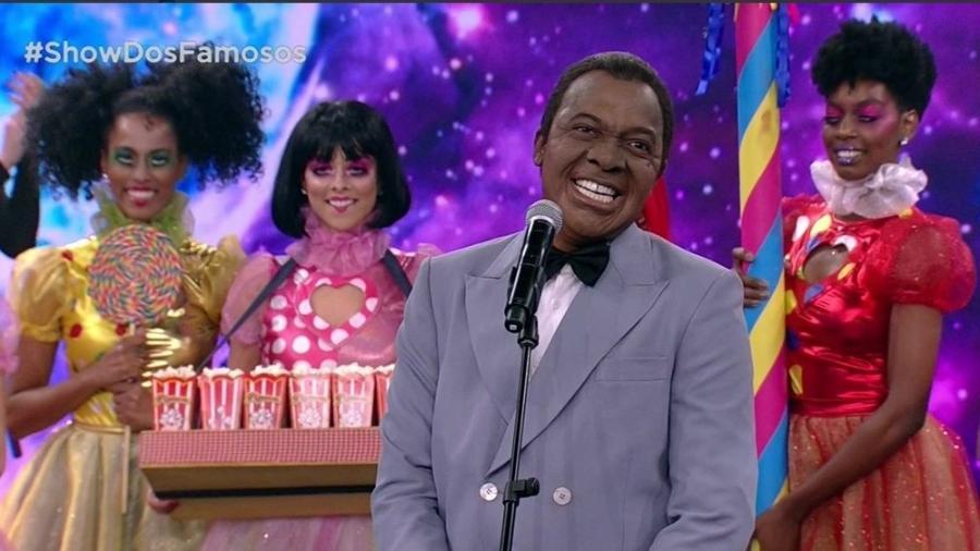 """Mumuzinho surpreende novamente no """"Show dos Famosos"""" imitando Louis Armstrong - Reprodução/TVGlobo"""