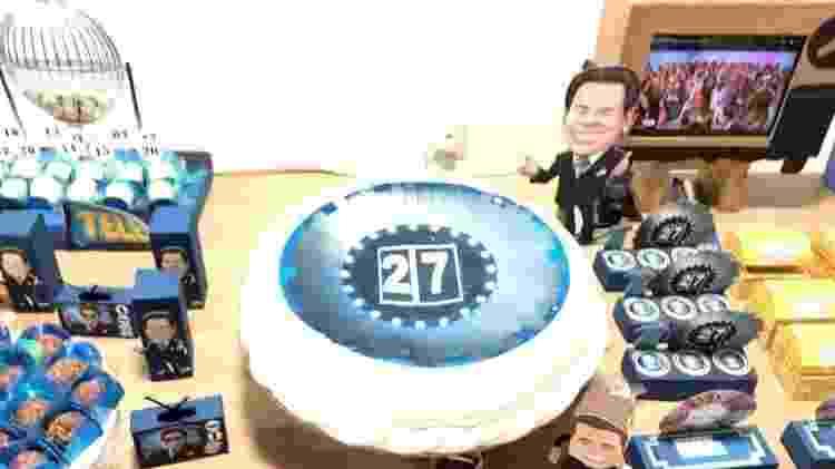 Decoração da festa do ator Robson Lins com o tema Silvio Santos - Robson Lins/Arquivo pessoal - Robson Lins/Arquivo pessoal