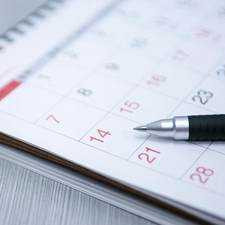 Destaque de um calendário - iStock