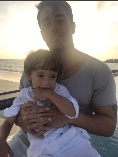 Vicente e Pawel, marido e filho de Simaria - Reprodução/Instagram