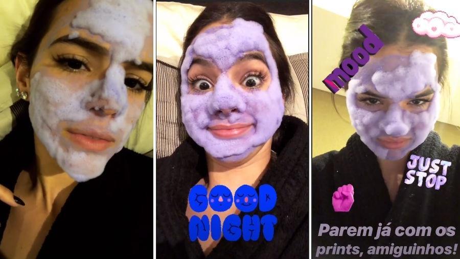 Bruna Marquezine tira sarro de si mesma com máscara facial - Reprodução/Instagram