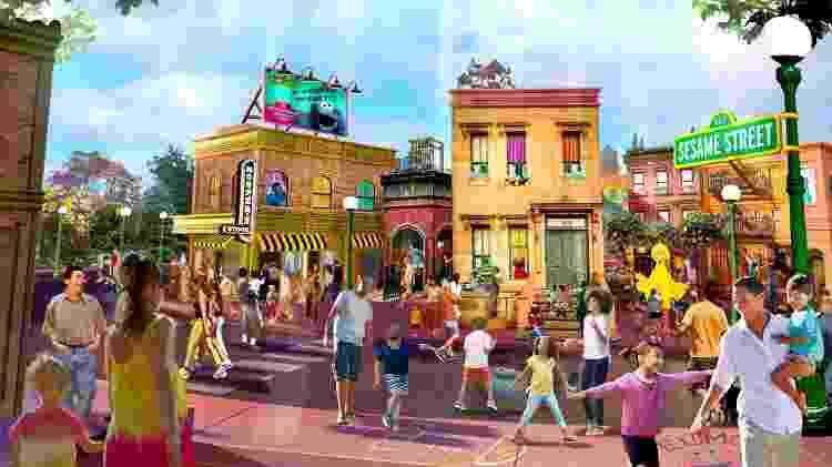 Projeção da área do Sesame Street no SeaWorld Orlando - Divulgação/SeaWorld - Divulgação/SeaWorld