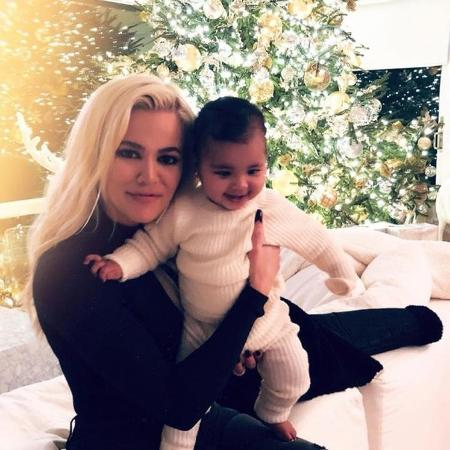 Khloé Kardashian com a filha, True, de 1 ano - Reprodução/Instagram/khloekardashian