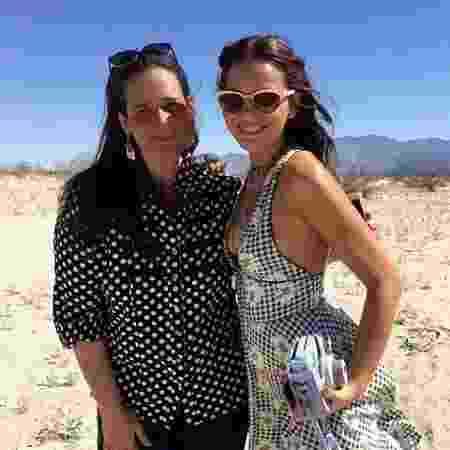 Com Bruna Marquezine, que foi à Califórnia em 2016 para participar festival de música Coachella - Arquivo pessoal