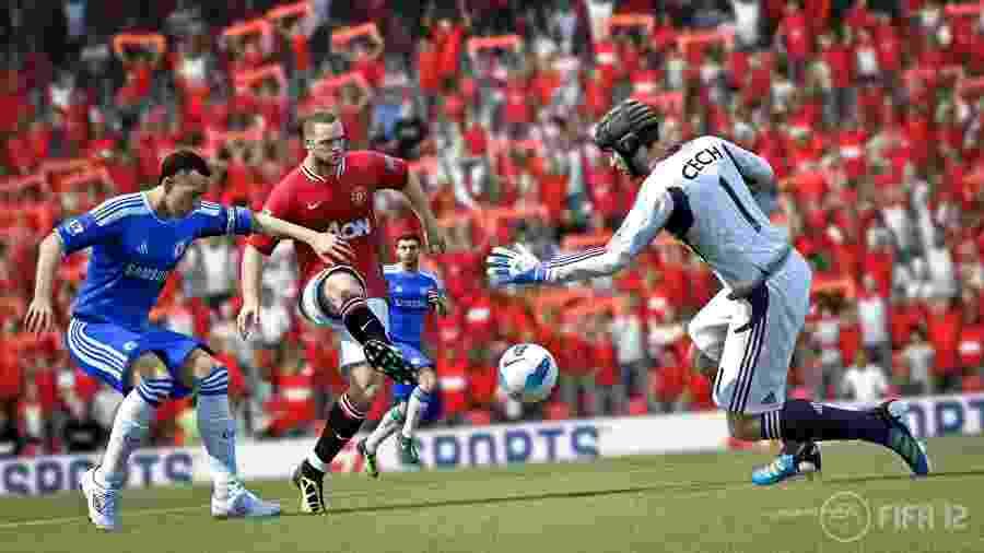 Rooney em sua versão de FIFA 12 - Divulgação