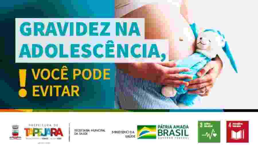 Campanha de gravidez na adolescência - Divulgação