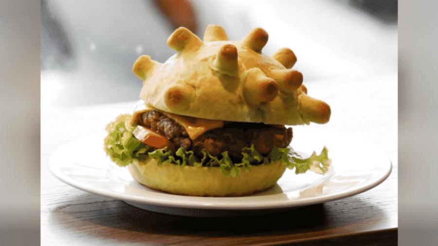 O coronaburger, criado pelo chef Hoang Tung, no Vietnã - Reuters
