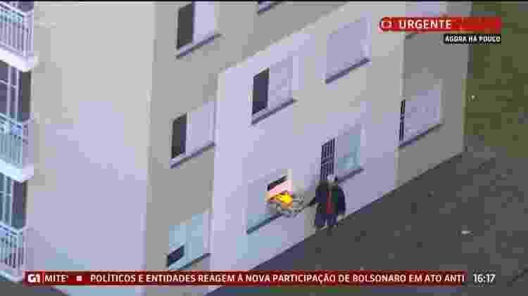 Homem fogo - Reprodução/Globo News - Reprodução/Globo News