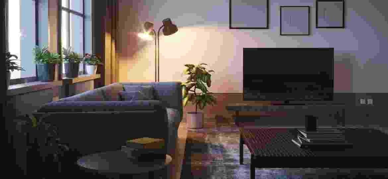 Sala de estar pode ganhar nova vida com alguns bons truques de iluminação - iStockphotos