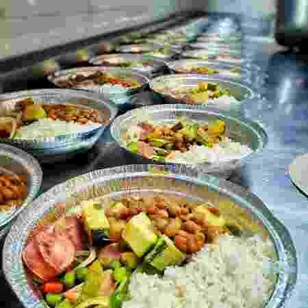Pratos de comida que serão doados pelo restaurante Mocotó - Divulgação - Divulgação