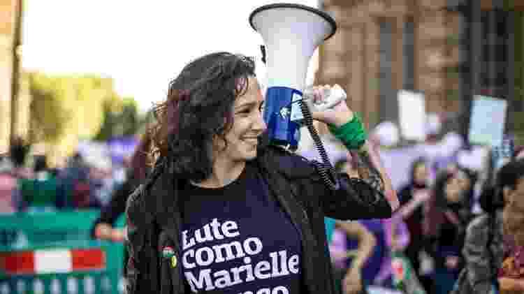 Monica Benicio durante campanha à Câmara do Rio - Divulgação - Divulgação