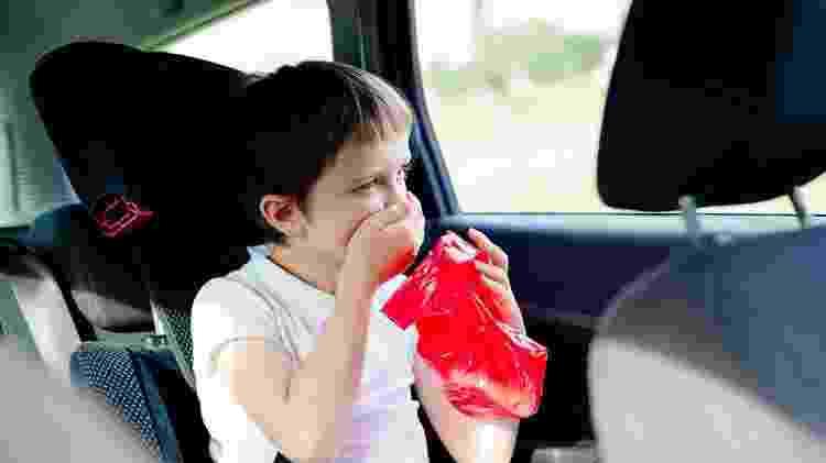 Alguns truques podem ajudar a evitar que as crianças tenham enjoo durante a viagem - Getty Images/iStockphotos - Getty Images/iStockphotos