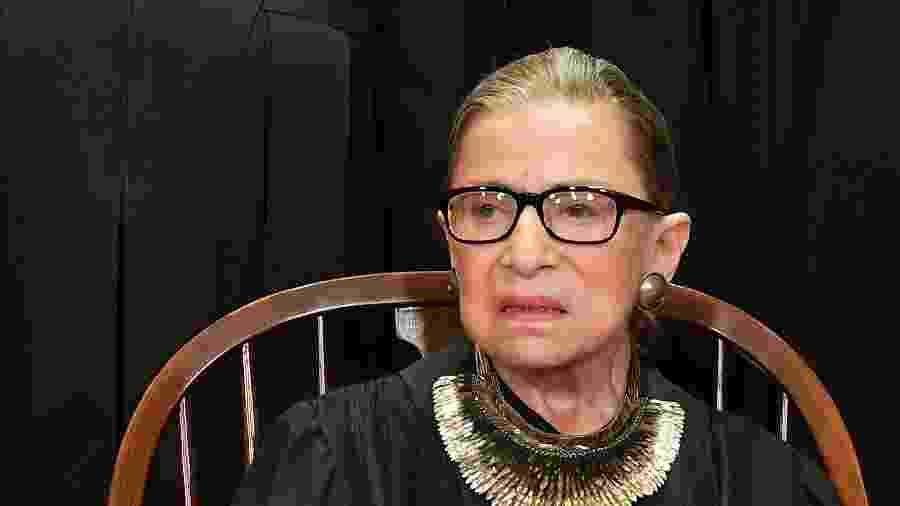 Ruth Bader Ginsburg posa para foto oficial na Supreme Court in Washington, DC - MANDEL NGAN - 30.nov.2018/AFP