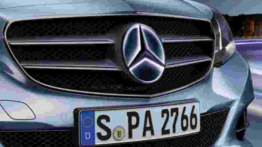Logo iluminado da Mercedes-Benz - Divulgação