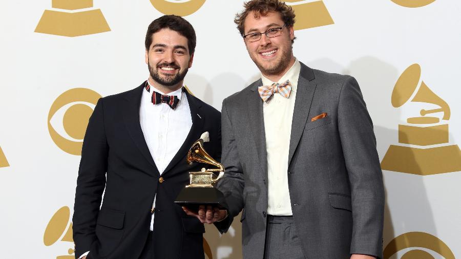 10.02.2013 - Justin Lansing e Joe Mailander, os Okee Dokee Brothers, já venceram Grammy de melhor álbum infantil - Frederick M. Brown/Getty Images