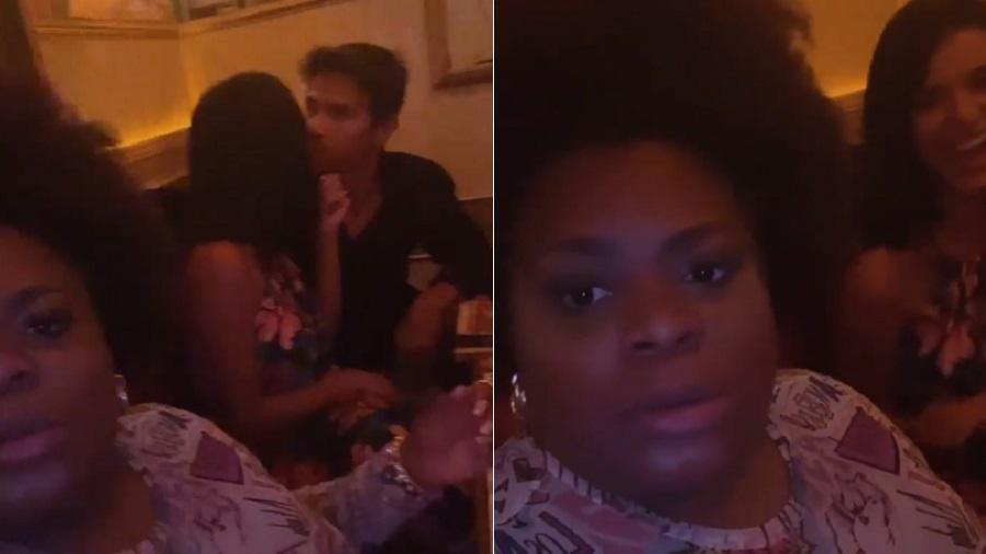 Jojo Todynho segura vela em beijo de Jake e Mariano - Reprodução/Instagram