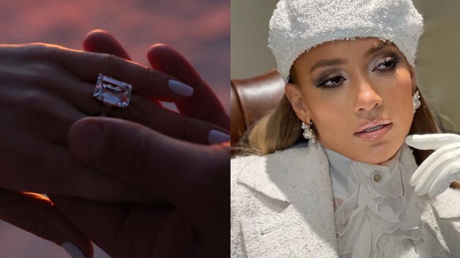 Jennifer Lopez tem anel de noivado de R$ 10,1 milhões - Reprodução/Instagram