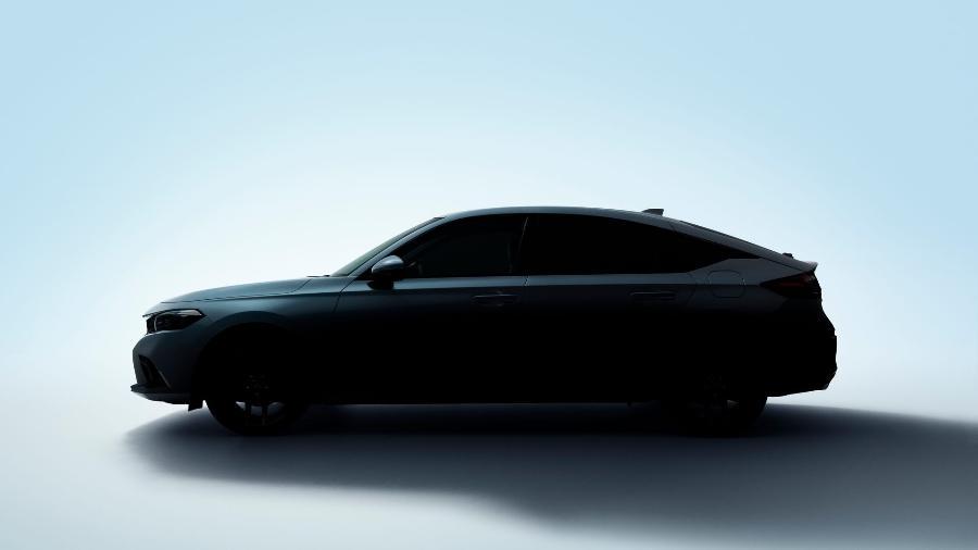 Honda Civic hatch 2022 teaser - Divulgação