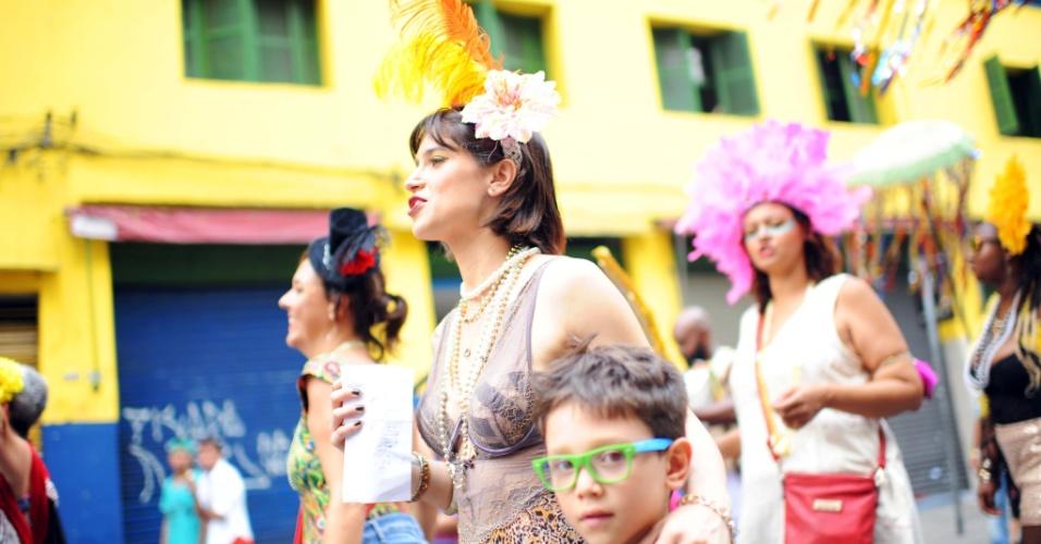 7.fev.2016 - Com participação de Mel Lisboa, Cordão do Triunfo promove teatro local e faz homenagem ao cinema da Boca do Lixo, em São Paulo